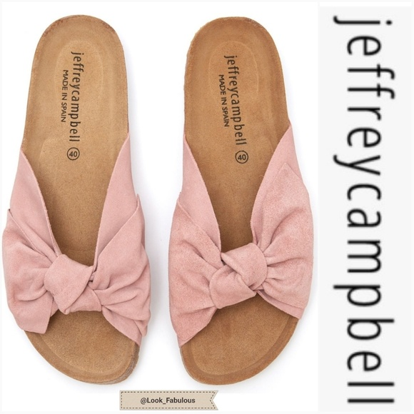 d9a1aea1f989 NWT JEFFERY CAMPBELL PINK BOW SANDALS
